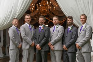 Groomsman in wedding at Filhauer Lakehouse Cleveland by Chattanooga photographer Kim Nix