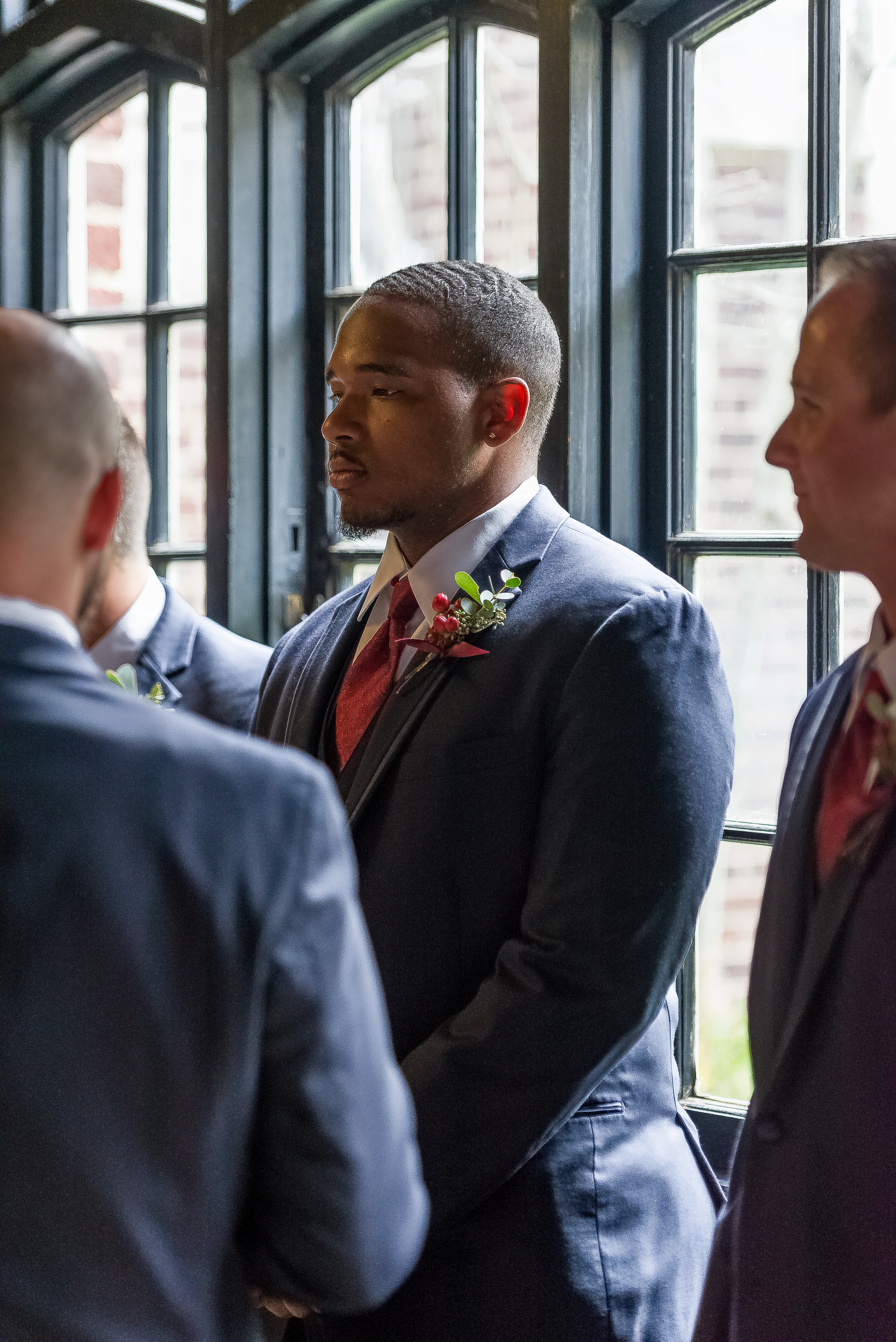 Groomsman at Patten Chapel by Kim Nix Photography in Chattanooga