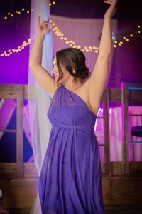 Cleveland wedding photographer captures the bridesmaids dancing at the reception!