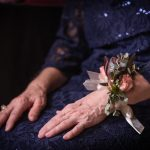 Wedding photographer in Chattanooga captures corsage at Patton Chapel in Chattanooga.
