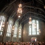 Photography of guests inside Patton Chapel in Chattanooga.