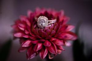 Ring on flower at Patten Chapel in Chattanooga by photographer Kim Nix.