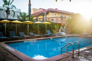 Photography by Media Mafia Inc, Kim Nix Photography of the pool at The Freehand in Miami.